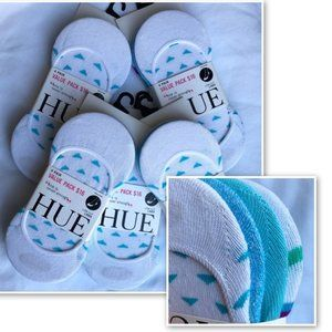 NWT Hue Lot of 20 Low Cut Liner Socks Neon Blue OS